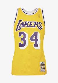 Mitchell & Ness - NBA LA LAKERS SHAQUILLE ONEAL SWINGMAN - Fanartikel - yellow - 4