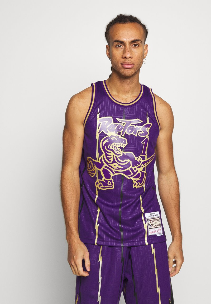 Mitchell & Ness - NBA TORONTO RAPTORS SWINGMAN TRACY MCGRADY - Fanartikel - purple