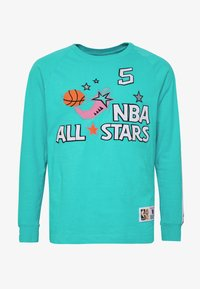 Mitchell & Ness - NBA ALL STAR WEST NAME NUMBER LONGSLEEVE JASON KIDD - Klubové oblečení - teal - 5