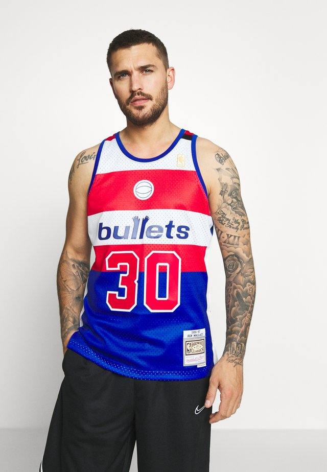 NBA WASHINGTON BULLETS SWINGMAN BEN WALLACE - Vereinsmannschaften - royal/red