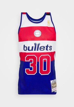 NBA WASHINGTON BULLETS SWINGMAN BEN WALLACE - Klubtrøjer - royal/red