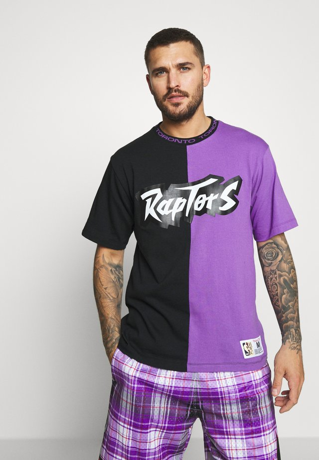 NBA TORONTO RAPTORS NBA SPLIT COLOR - Article de supporter - black/purple