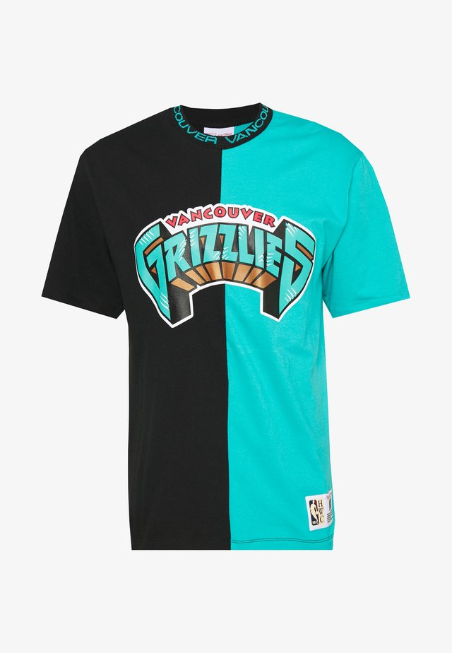 NBA VANCOUVER GRIZZLIES NBA SPLIT COLOR - Article de supporter - black/grey