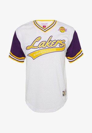 NBA LOS ANGELES LAKERS PROSPECT V-NECK - Equipación de clubes - white/purple