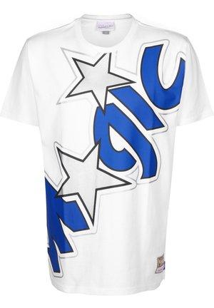 BIG FACE MAGIC  - T-shirt imprimé - white