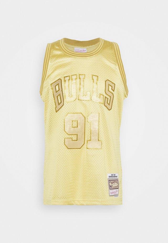 NBA CHICAGO BULLS MIDAS SWINGMAN RODMAN - Fanartikel - metallic gold