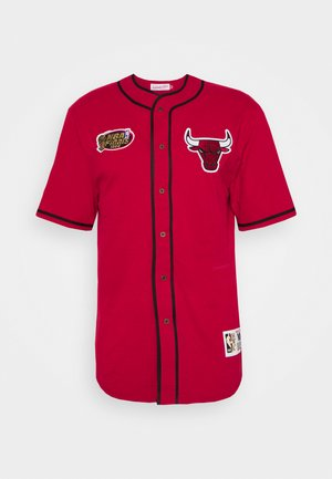 NBA CHICAGO BULLS BUTTON FRONT - T-shirt imprimé - scarlet