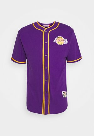 NBA LOS ANGELES LAKERS BUTTON FRONT - Club wear - purple