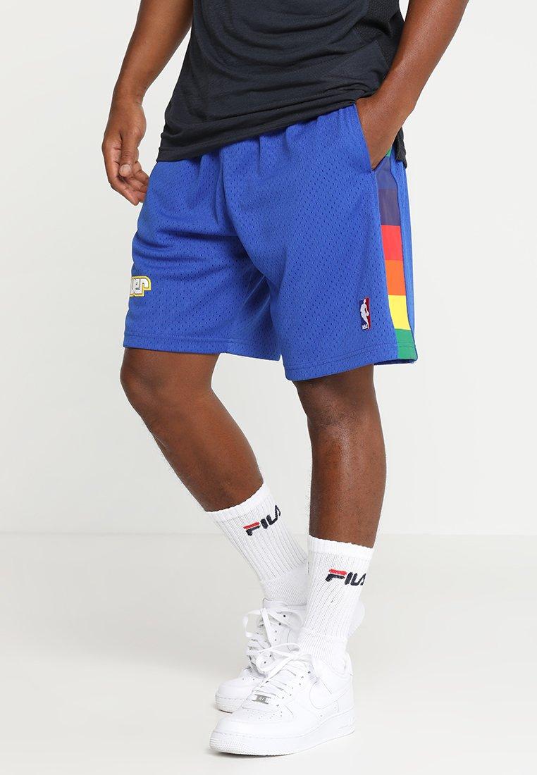 Mitchell & Ness - NBA DENVER NUGGETS SWINGMAN SHORT - Pantalón corto de deporte - royal/multi