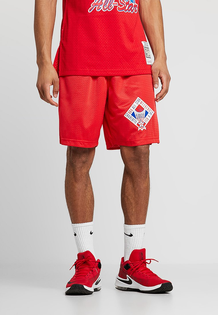 Mitchell & Ness - NBA ALL STAR 1991 PRACTICE SHORT - Sports shorts - red