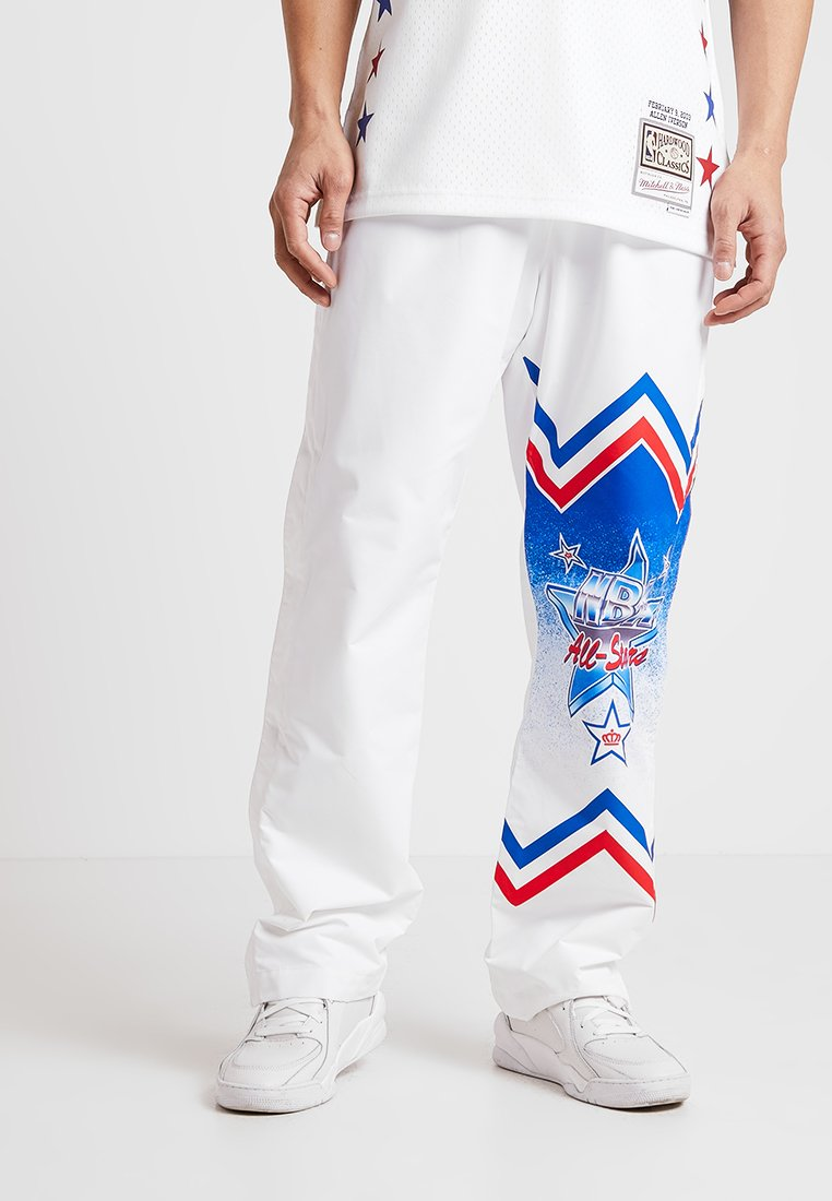 Mitchell & Ness - NBA ALL STAR EAST 1991 WARM UP PANT - Trainingsbroek - white