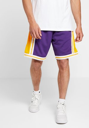 NBA SWINGMAN SHORTS LA LAKERS - kurze Sporthose - purple/yellow