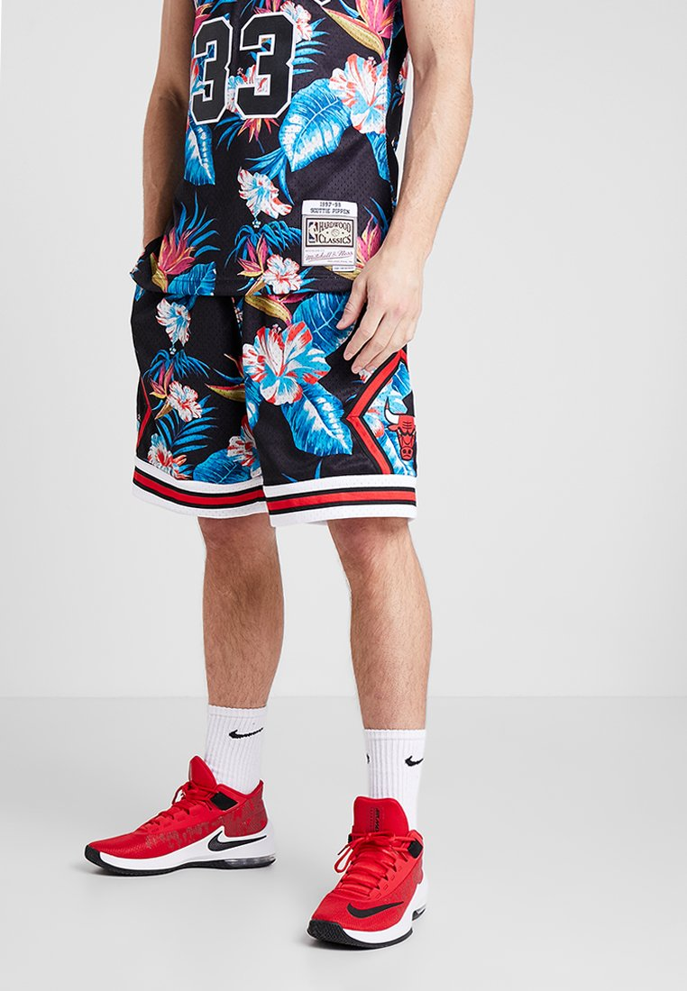 Mitchell & Ness - NBA CHICACO BULL FLORAL SWINGMAN SHORT - Sports shorts - multi-coloured