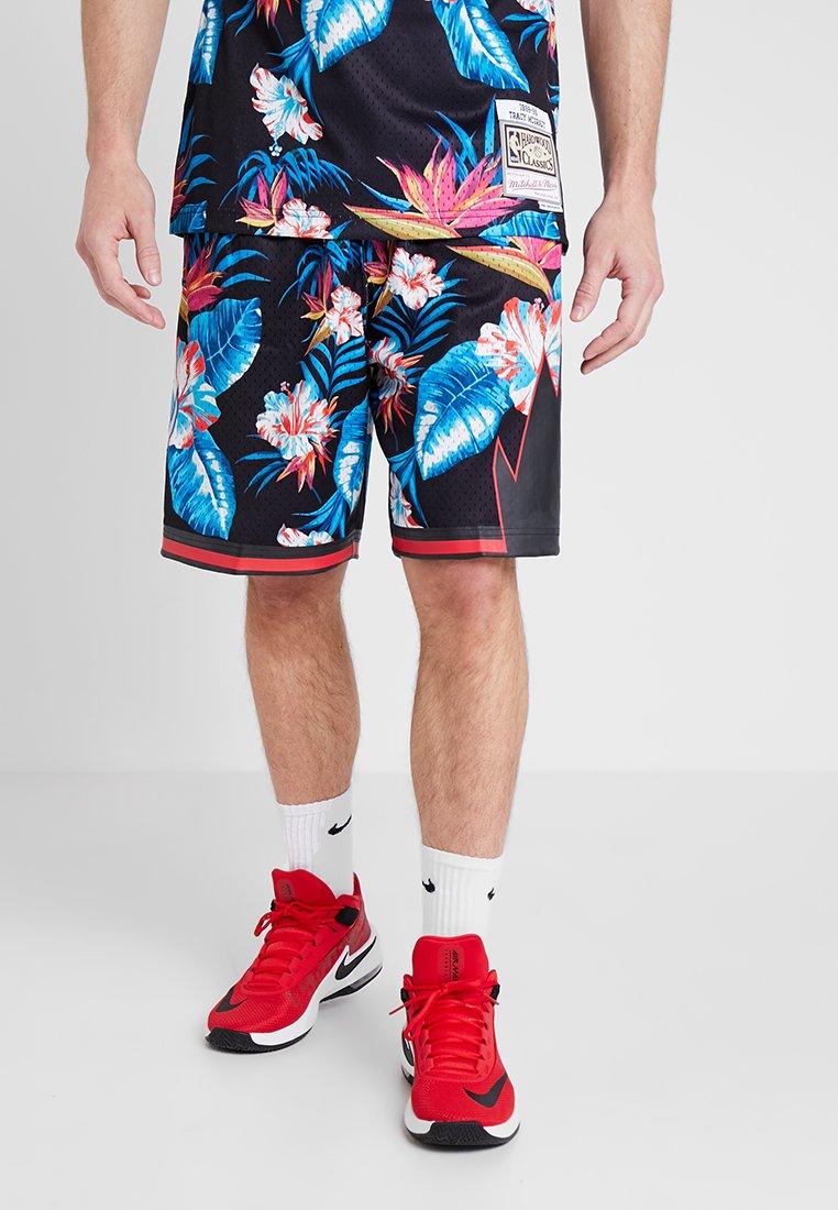 Mitchell & Ness - NBA TORONTO RAPTORS FLORAL SWINGMAN SHORT - Korte sportsbukser - floral