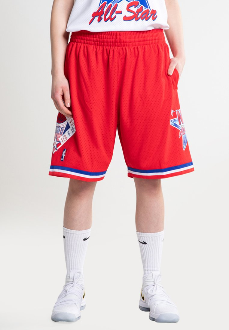 Mitchell & Ness - NBA SWINGMAN SHORTS ALL STAR WEST 1991 - Short de sport - red