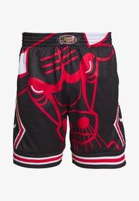 Mitchell & Ness - NBA CHICAGO BULLS BIG FACE SHORT - Krótkie spodenki sportowe - black - 4