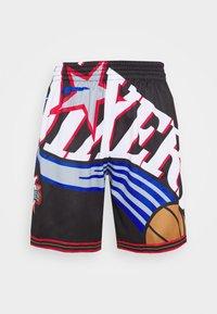 Mitchell & Ness - NBA PHILADELPHIA 76ERS BIG FACE SHORT - Sportovní kraťasy - black - 4