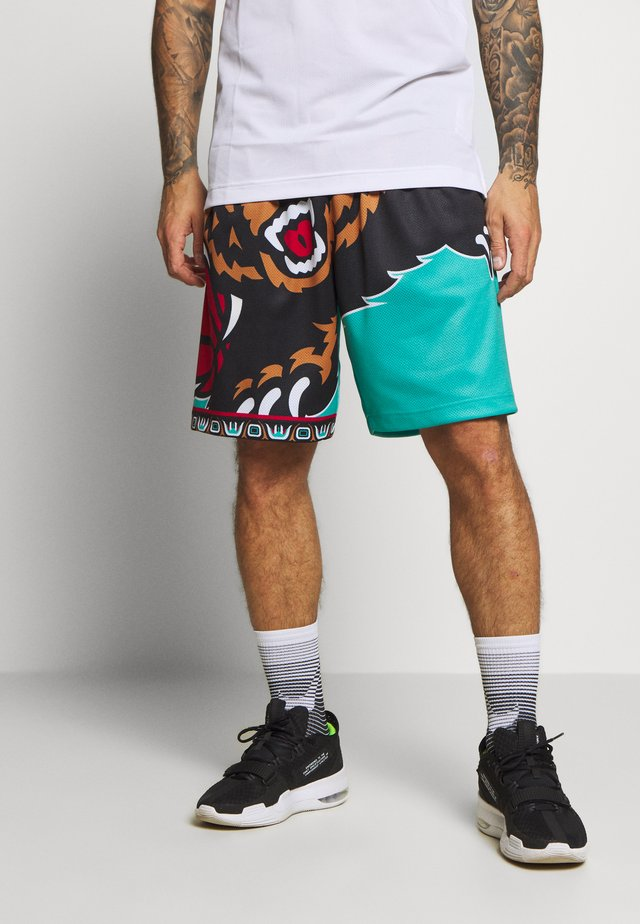 NBA VANCOUVER GRIZZLIES BIG FACE - Träningsshorts - teal