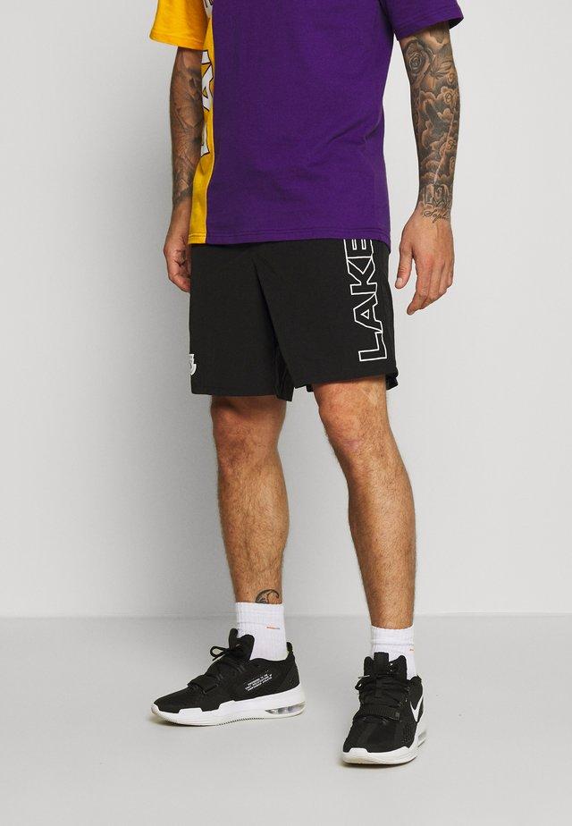 NBA LOS ANGELES LAKERS - Sportovní kraťasy - black