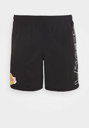 NBA LOS ANGELES LAKERS - Korte sportsbukser - black