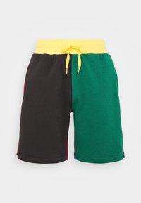 Mitchell & Ness - COLORBLOCKED - Sportovní kraťasy - dark green - 4