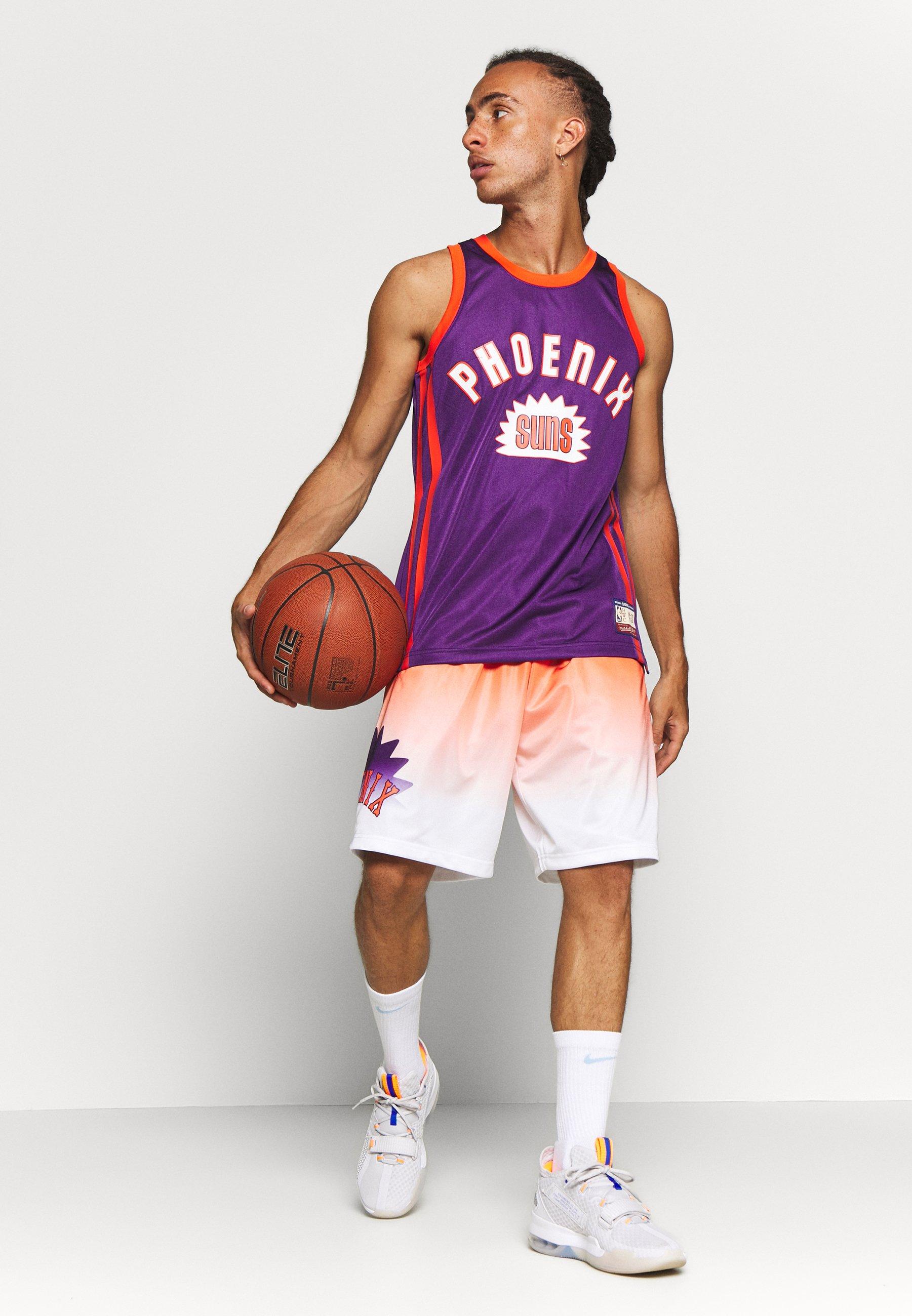 Mitchell & Ness NBA PHOENIX SUNS TEAM HERITAGE SHORTS - Pantaloncini sportivi - orange/white