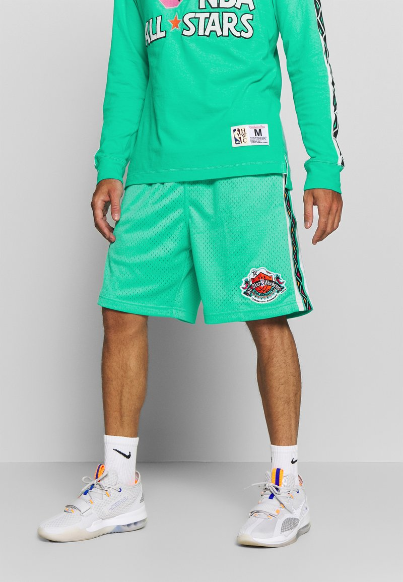 Mitchell & Ness - NBA ALL STAR PATTERN SHORT - Korte broeken - teal