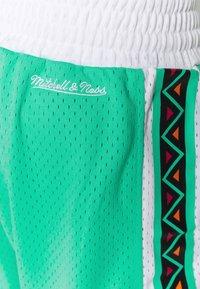 Mitchell & Ness - NBA ALL STAR PATTERN SHORT - Korte broeken - teal - 6