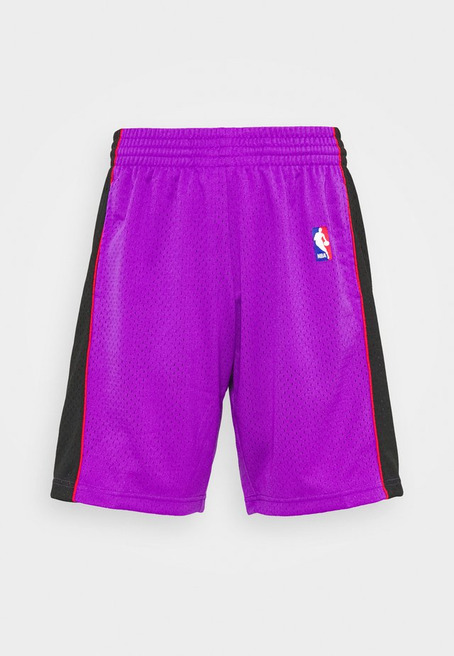 NBA TORONTO RAPTORS SWINGMAN SHORTS - Korte sportsbukser - purple/black