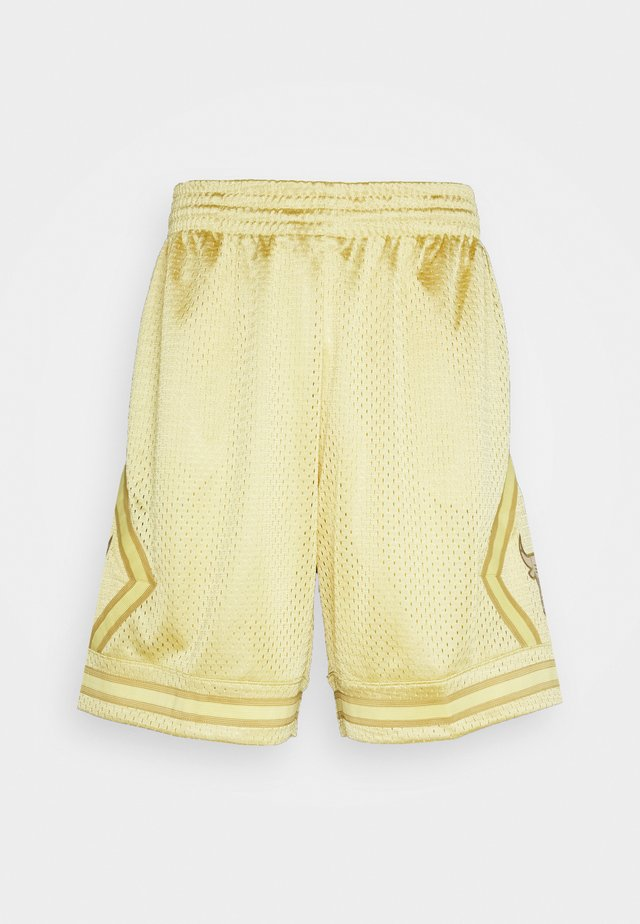 NBA CHICAGO BULLS MIDAS SWINGMAN SHORT - Urheilushortsit - metallic gold