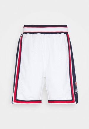 NBA TEAM USA 1992 USA BASKETBALL AUTHENTIC HOME - Sportovní kraťasy - white