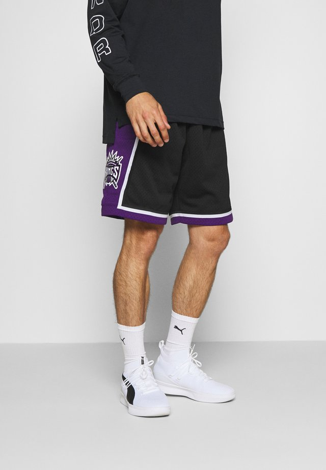 NBA SWINGMAN SHORTS SACRAMENTO KINGS - Pantaloncini sportivi - black