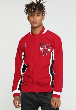 CHICAGO BULLS NBA AUTHENTIC WARM UP JACKETS - Sportovní bunda - red