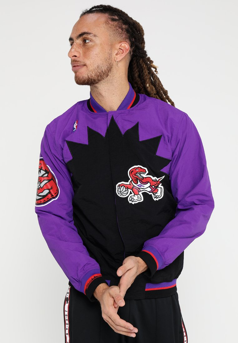 Mitchell & Ness - TORONTO RAPTORS NBA  - Sportovní bunda - black/ purple