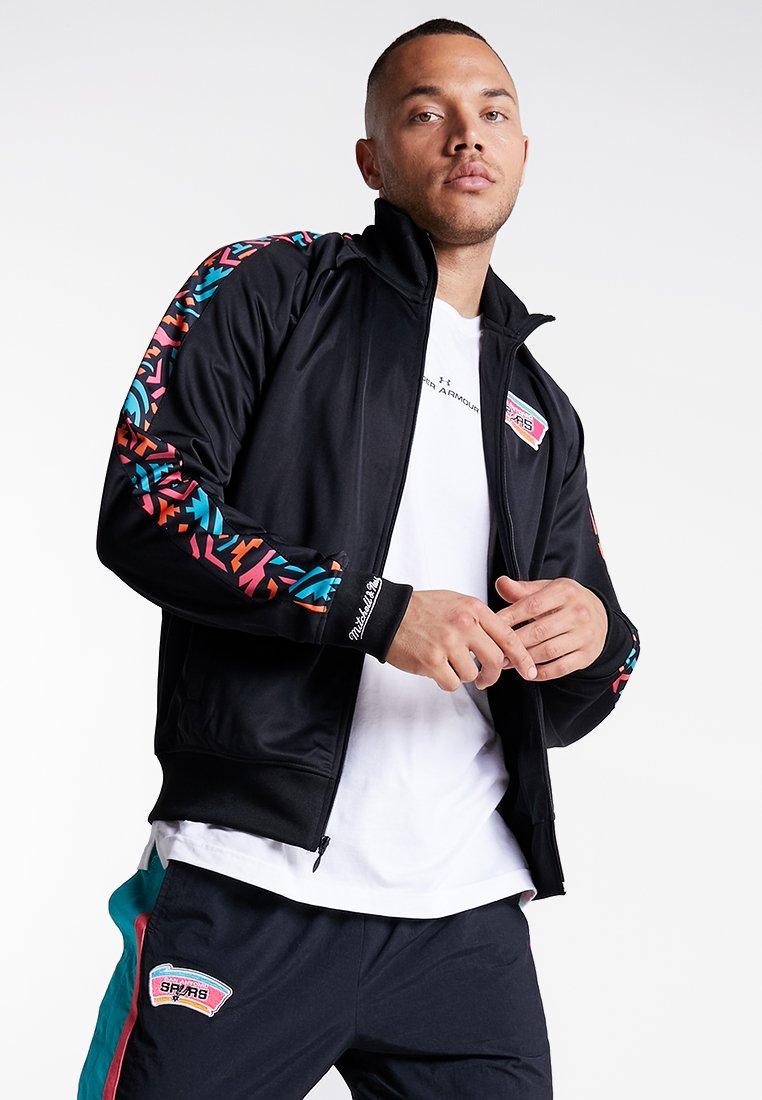 Mitchell & Ness - NBA SAN ANTONIO SPURS TRACK JACKET - Training jacket - black
