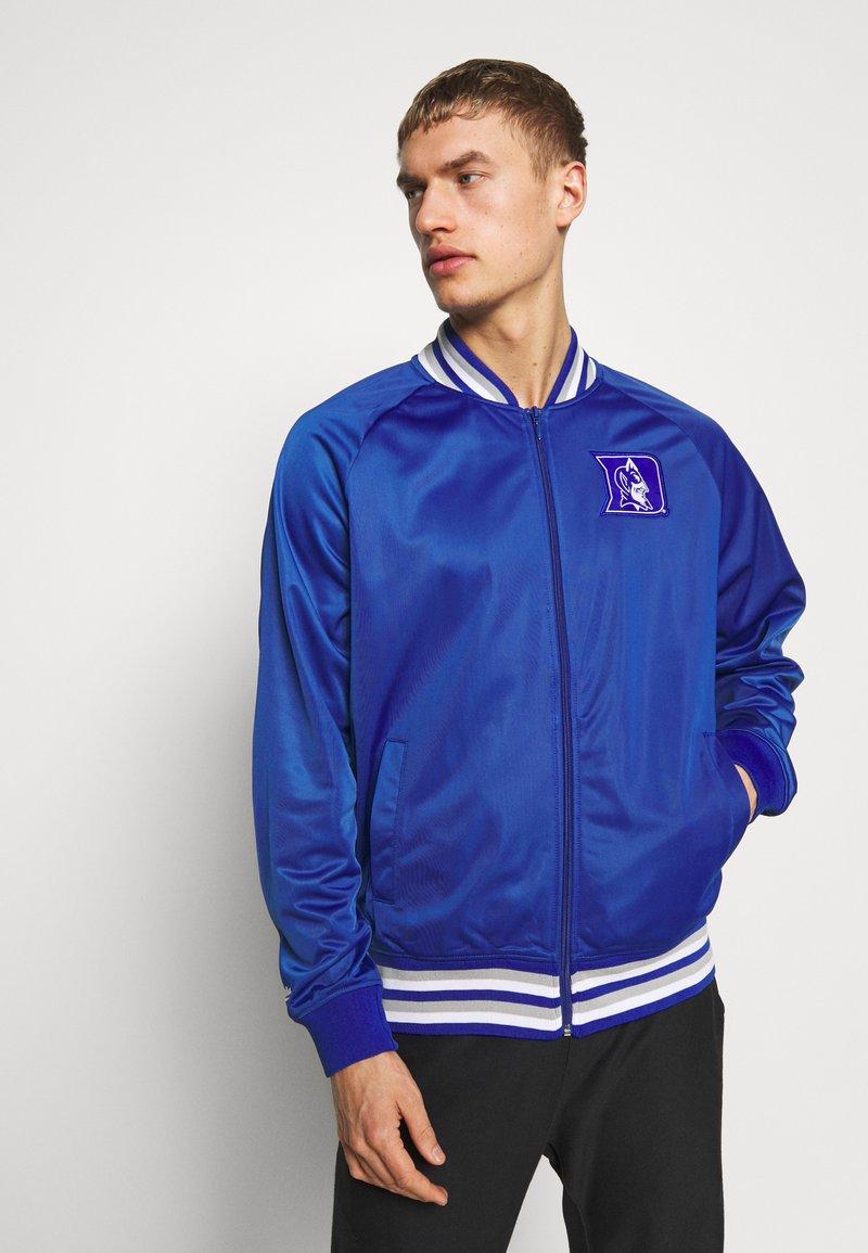 Mitchell & Ness - NCAA DUKE BLUE DEVILS TRACK JACKET - Klubové oblečení - royal