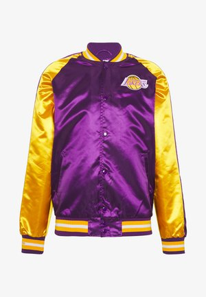 NBA LOS ANGELES LAKERS COLOR BLOCKED JACKET - Article de supporter - purple