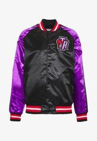 Mitchell & Ness - NBA TORONTO RAPTORS COLOR BLOCKED JACKET - Klubové oblečení - black - 4