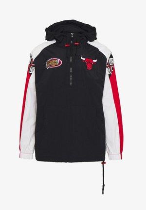 NBA CHICAGO BULLS HALF ZIP ANORAK - Club wear - black