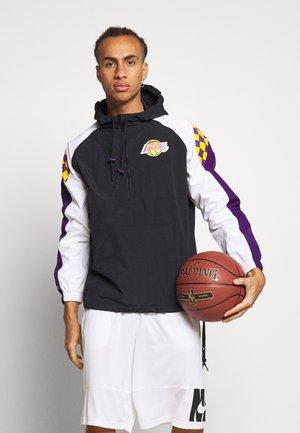 NBA LOS ANGELES LAKERS HALF ZIP ANORAK - Klubové oblečení - black