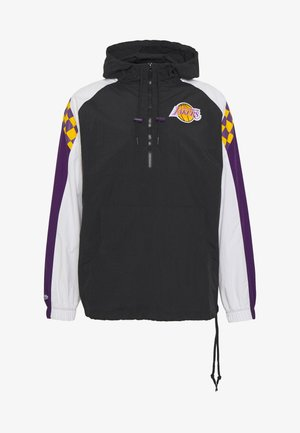 NBA LOS ANGELES LAKERS HALF ZIP ANORAK - Fanartikel - black