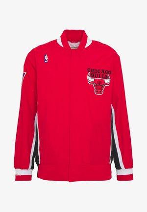 NBA CHICAGO BULLS AUTHENTIC WARM UP JACKET - Squadra - red