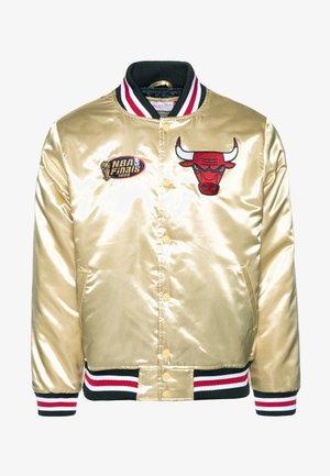 NBA CHICAGO BULLS CHAMPIONSHIP GAME JACKET - Club wear - beige