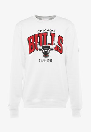 NBA ARCH LOGO CREW CHICAGO BULLS - Klubové oblečení - white