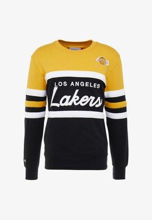 NBA LA LAKERS HEAD COACH CREW - Sweatshirts - yellow/black