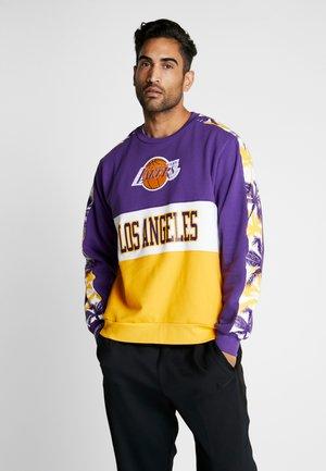NBA LA LAKERS LEADING SCORER CREW - Klubbkläder - purple/yellow