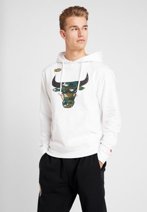 NBA CHICAGO BULLS WOODLAND CAMO HOODY - Pelipaita - white