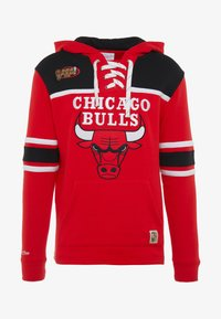 Mitchell & Ness - NBA CHICAGO BULLS HOCKEY HOODY - Club wear - red/black - 4