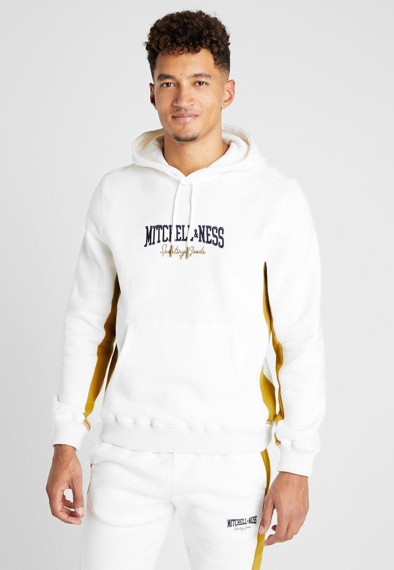 Mitchell & Ness - PANELED HOODIE - Hoodie - off white