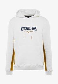 Mitchell & Ness - PANELED HOODIE - Hoodie - off white - 4